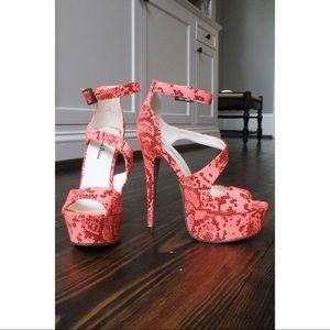 hot pink snakeskin michael antonio heels